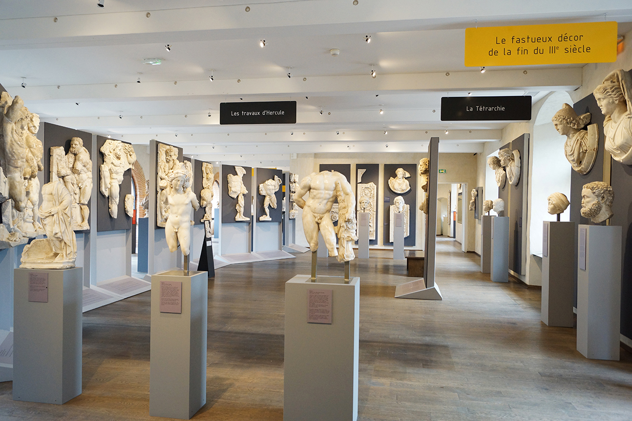 muséographie, scénographie, agencement, design d'espace, aménagement, rénovation, musée Saint-Raymond, Toulouse, tétrarchie,