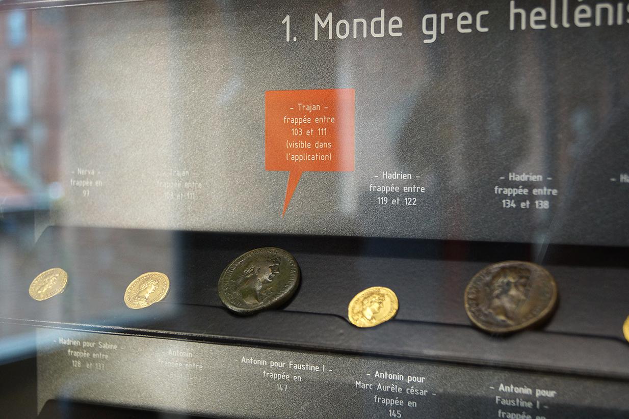 muséographie, scénographie, agencement, design d'espace, aménagement, rénovation, musée Saint-Raymond, Toulouse, vitrine des monnaies