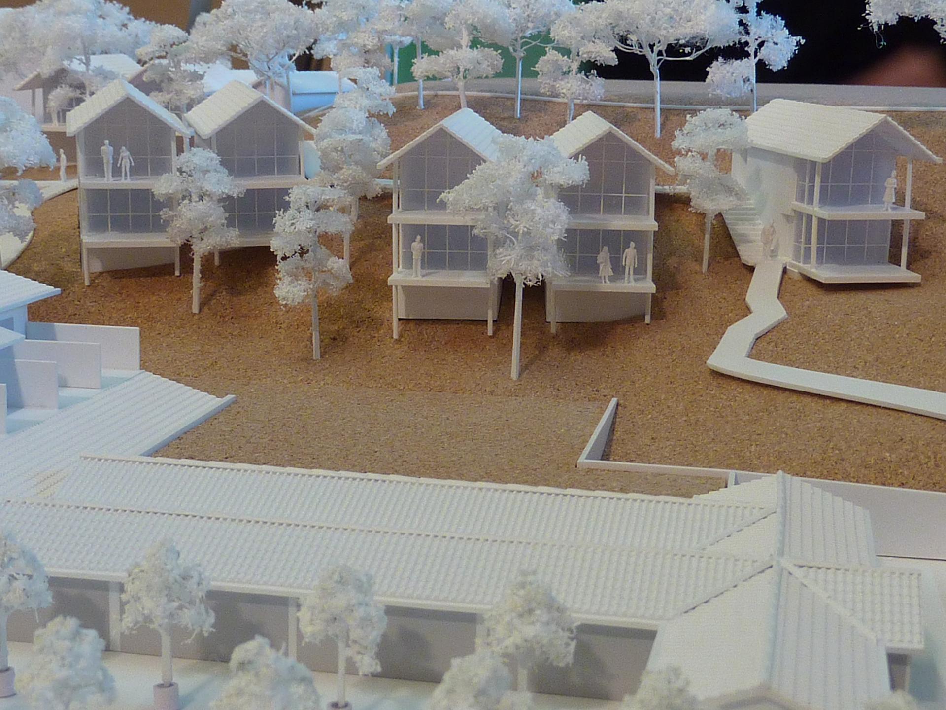 maquette, philippe starck, la co(o)rniche, pyla sur mer, la dune du pyla, hotel, prestige