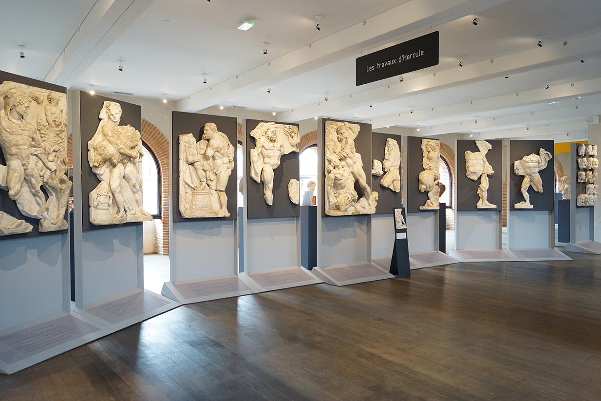 muséographie, scénographie, agencement, design d'espace, aménagement, rénovation, musée Saint-Raymond, Toulouse, travaux d'Hercule,